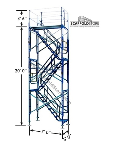 Scaffold stair tower 888 777 4133 scaffold store for Stair tower